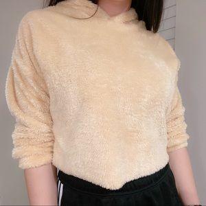 Tops - Khaki Cute Sweatshirt Hoodie